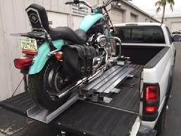 Motorcycle Loader tailgate on