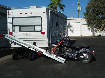 Motorcycle Trailer on RV
