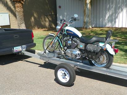 Motorcycle Trailer With Power Loader